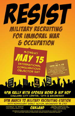 May 15: Int'l Conscientious Objector Day