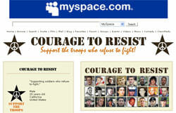 Courage to Resist launches MySpace operations