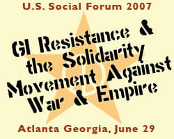 GI Resistance at the US Social Forum
