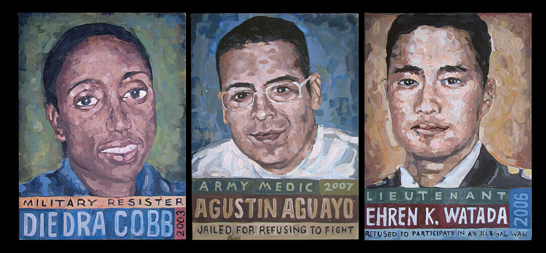 """Portraits of Courage"" paintings of GI resisters"