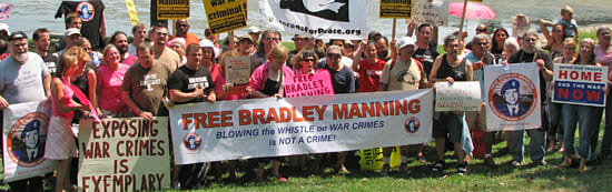 Free Bradley Manning, accused WikiLeaks whistle-blower