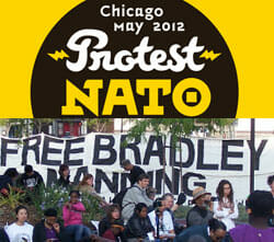 Bradley Manning contingent, Chicago anti-NATO march