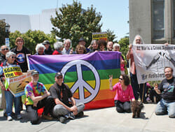 Berkeley Peace Flag Raising 2012