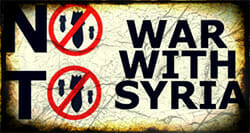 Resist war with Syria