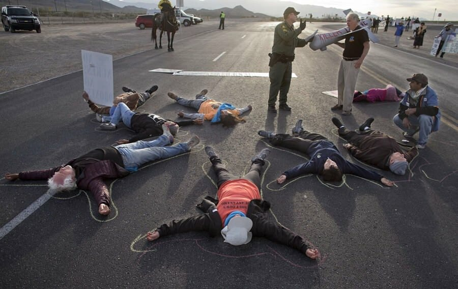 Anti-drone protesters arrested at Creech Air Force Base