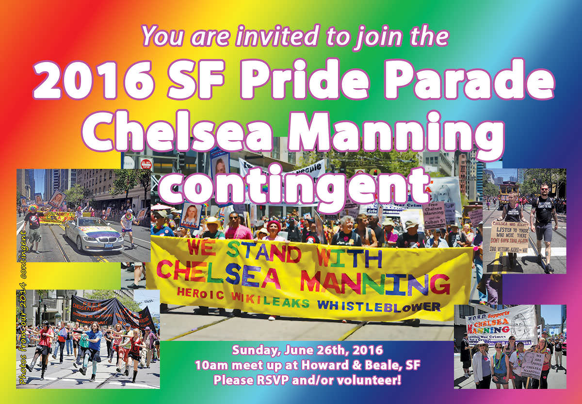 Join us for Chelsea Manning in SF Pride 2016