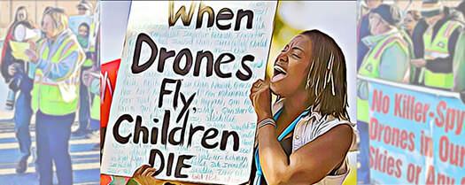drones protest