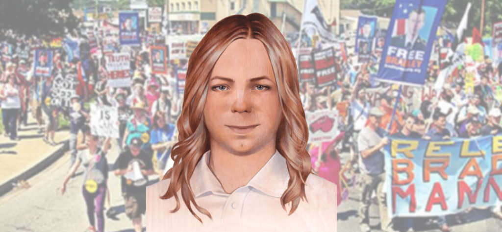 chelsea manning protest freedom