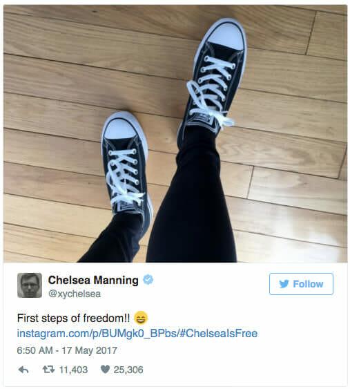 twitter manning feet