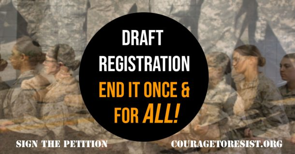 sign petition draft registration