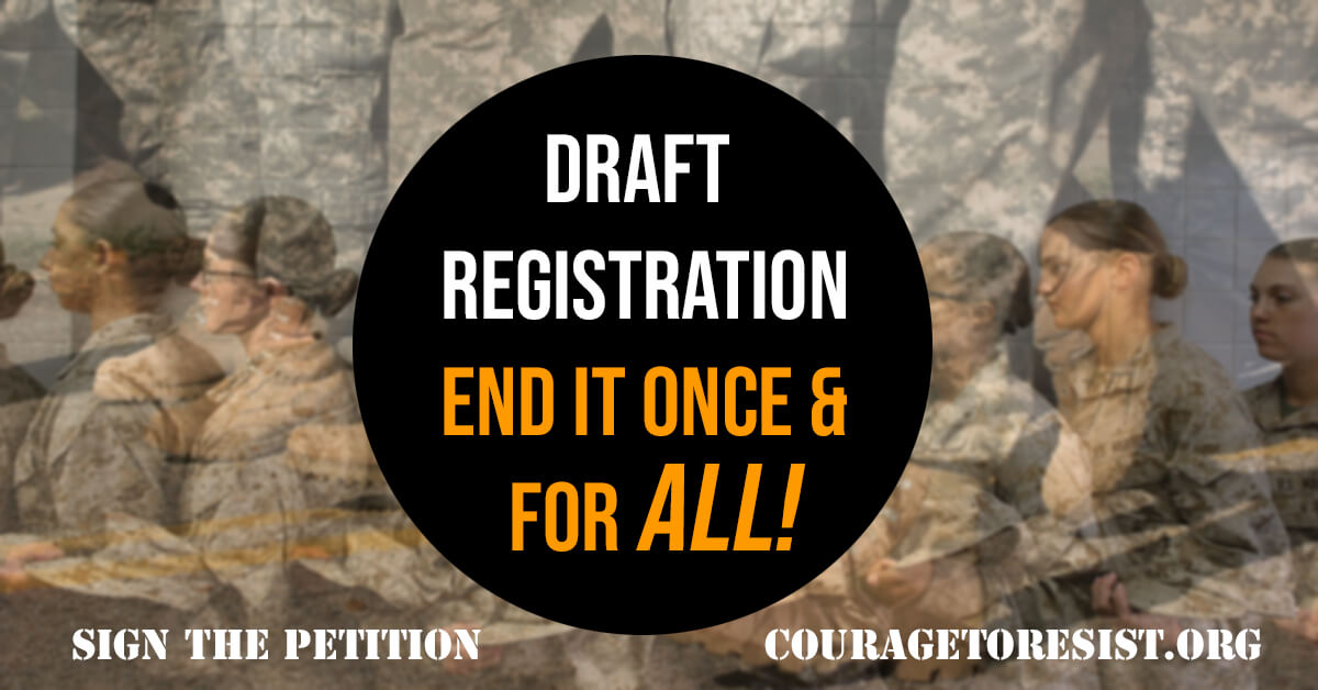 sign petition draft registration