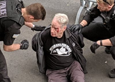 Gerry Condon, Veterans For Peace, violently arrested at Venezuelan Embassy