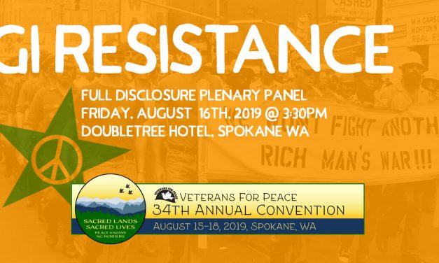 GI Resistance, Vets For Peace 2019 Convention, Spokane WA