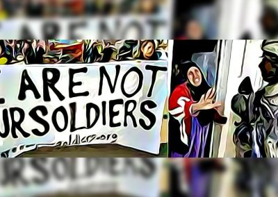We Are Not Your Soldiers tour to high schools and colleges